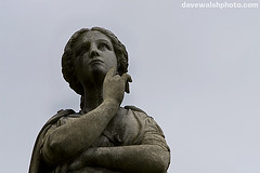 Detail of statue, Fort family monument, Albany Rural Cemetery, New York. 1874 - 19
