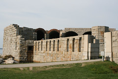 Exterior of Fort Popham