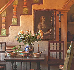 Carmel Mission (linda yvonne) Tags: california stilllife museum lowlight interior carmel carmelmission eyeofthebeholder interestingness314 i500 lindayvonne superbmasterpiece heartawards objectsofdailylife