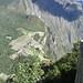 Looking down at Machu Picchu