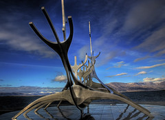 Slfar Suncraft (Karnevil) Tags: iceland reykjavik globalvillage jesters suncraft globalcity goldenphotographer invitedphotosonly gvadminshalloffame itsabeautifulgv slfarsuncraft