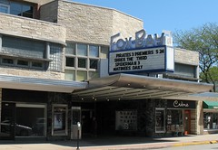 Fox-Bay (.michael.newman.) Tags: cinema wisconsin architecture movie marquee theater shrek pirates spiderman modernism artdeco whitefishbay silverspring matinee streamlinemoderne foxbay
