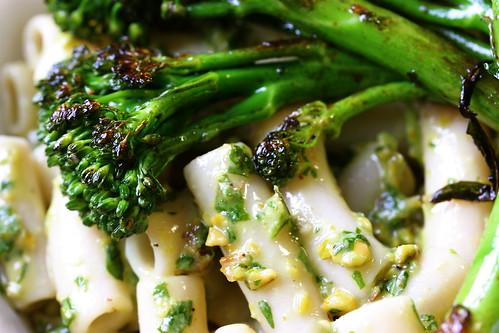 Pistachio Arugula Pesto with Sauteed Broccolini