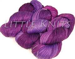 Hand Maiden's LAdy Godiva in Amethyst at Little Knits