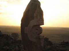 095 the Living Desert sunset (Parkaboy) Tags: sunset summer sculpture art rock stone bush dusk horizon australia newsouthwales outback remote aboriginal shape distance scrub brokenhill livingdesert asfarastheeyecansee barrierranges sculpturesymposium bajoelsoljaguar sundownhill underthejaguarsun