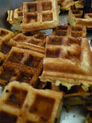 Cornbread and bacon waffles