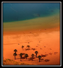 Saffron (Miguel_Len) Tags: blue espaa orange beach azul seaside spain sand pentax playa arena tenerife santacruzdetenerife magical naranja breathtaking k10d superhearts