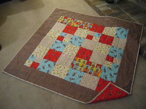 Sock Monkey Quilt for Max