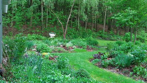 Upper garden with urn
