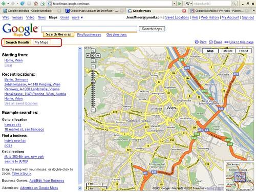 Kleine Design-Änderung bei den Google Maps - GWB
