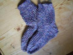 lace purl socks