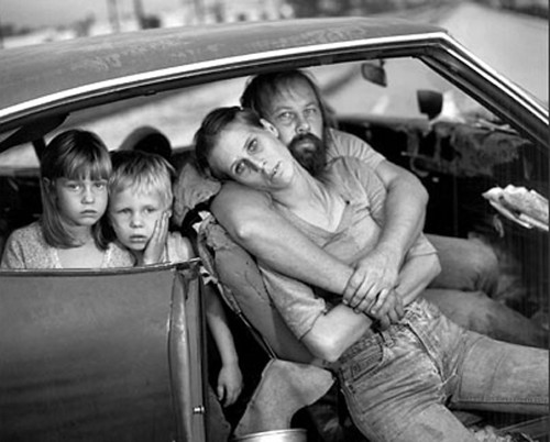 The Damm Family in Their Car, Los Angeles, CA, USA, 1987, By Mary Ellen Mark by Thomas Hawk