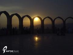 End of Day (Aaftab Sheikh) Tags: pakistan sunset reflection monument beautiful k750i islamabad aaftab