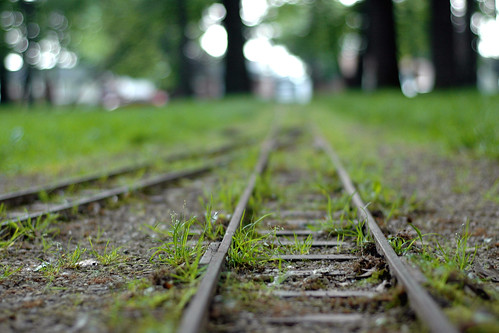 Bokeh train tracks!