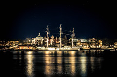 The Ship: Af Chapman (J. Pelz) Tags: stars afchapman sail stockholm nightshot canon ship