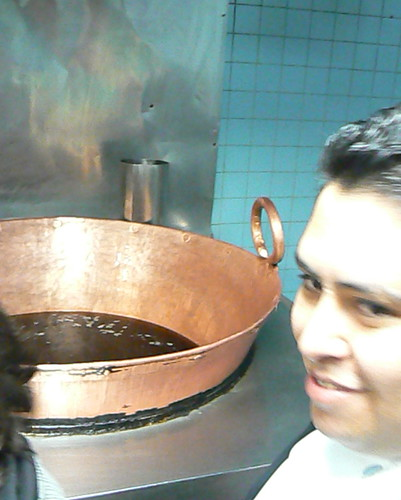 Chef Bryan Garcia with copper