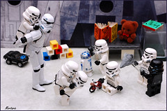 Daily Life at the Deathstar Daycare (Mortaric) Tags: dailylife offcameraflash nikon50mm nikond40 nikonsb400speedlight nikond40challenge nikonsb26speedlight stormtrooperdaycare
