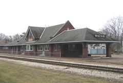 Wausau, WI (CMStP&P) train station (kla4067) Tags: trainstation wausauwi cmstpp wausauinsurancecompany