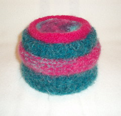 Felted stacked bowls
