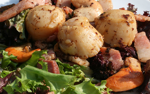 Warm Bacon and Scallop Salad
