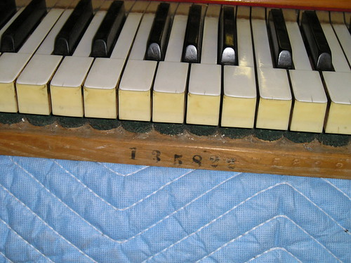 Steinway 1909 Piano Ready for Restoration - Keys with Serial Number