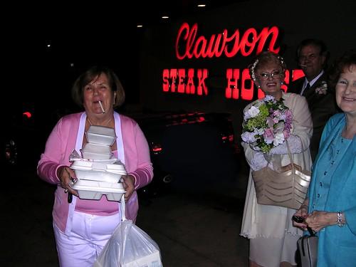 Clawson Steak House doggie bags.