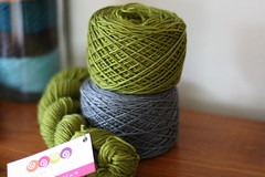 green tea and graphite ((caryatid)) Tags: yarn sundara yarnporn yarncakes