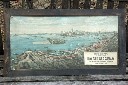 New York Dock Company lithograph, full frame, Circa 1911