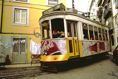 tram at Alfama (micmol ) Tags: portugal electric carriage lisbon tram winding narrow alfama