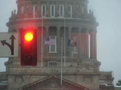 Stop (EcoSnake) Tags: think flags we idaho boise created have stop about society statehouse