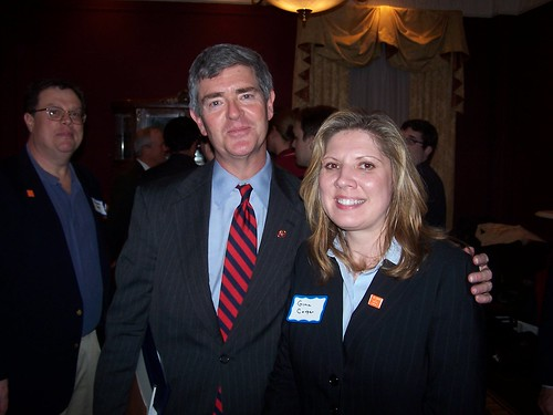 Gina Cooper and Rep. Brad Miller