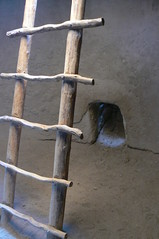 Ladder down into kiva (rdng tchr) Tags: old newmexico ancient ladder kiva bandelier cotcbestof2006 ladderstudy