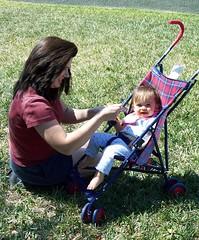Outside Snack (tsmithrio) Tags: mom outside orlando feeding time kodak