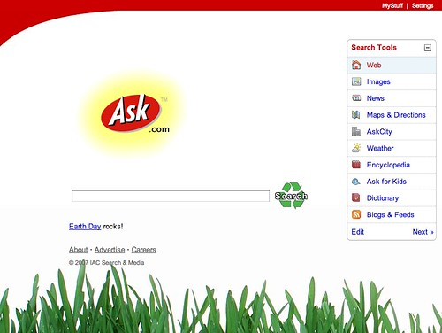 Ask.com earth day