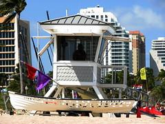 Life Guard Tower (Eddie Birk) Tags: vacation beach boat florida holes fl ftlauderdale lifeguardtower
