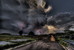The Road Less Travelled (alexkess) Tags: sunset sun clouds landscape nikon colours australia nsw rays d200 hdr wollongong lightroom illawarra shellharbour 3xp photomatix