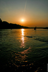 Soaking up the Sun... (Ashok (Chunangadan)) Tags: sunset india reflection nature water river evening kerala calm malayalam ottapalam bharathapuzha puzha