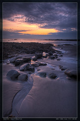 Rocky Beach Sunrise (Edd Noble) Tags: sun beach sunrise nikon bravo 1755mmf28g hdr d2h watchet 9xp manfrottotripod