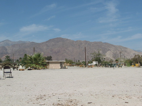 view from the salton sea beach