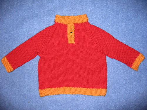 LMKG Child's Placket Sweater Red_03