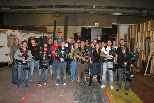 our section of the Thursday  class with the Steadicam instructors