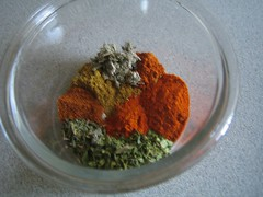 Spices for Tex Mex chili