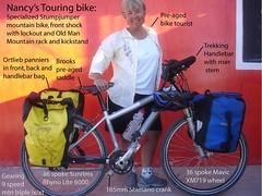 Nancy's bike and gear