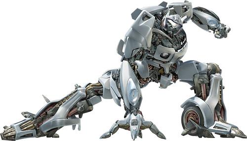 Jazz Autobot modo robot en Transformers la pelicula