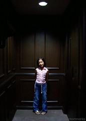 Spotted (manfrommanila) Tags: pink girl corner dark children stand kid child kodak spotlight pam c330 manfrommanila