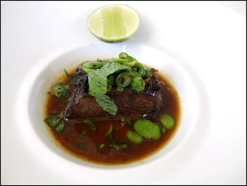 Jean Georges (New York) - Short Rib Vinaigrette, Favas, Jalapeno, & Mint