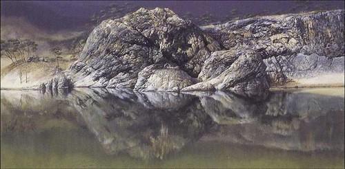efecto montaña lago