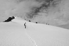 Summit Cap (Strychnine) Tags: bw mountaineering boealps tatooshrange plummerpeak