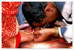 bow (exhibitj) Tags: travel nepal wedding red d50 nikon culture bow ritual practice pokhara socialdocumentary 1870 nepalesewedding