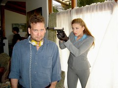 ttn jenscott (leatherindy) Tags: black leather gun gloves silencer hitwoman tentilnoon